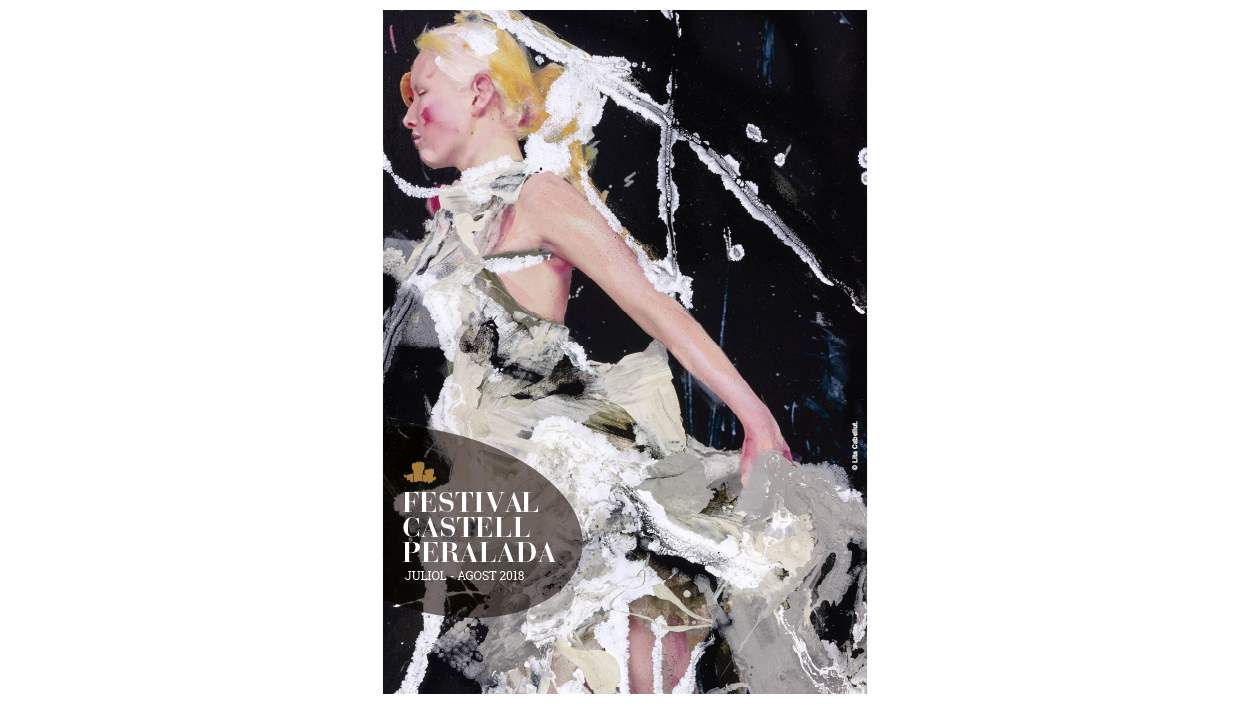 Lita Cabellut creator of the poster for the 32th Peralada Festival
